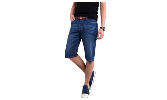 JIES Men's Fashion Straight Fit Casual Denim Shorts