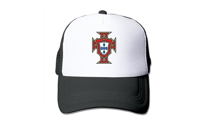 b5a29f1ffa7 Portugal National Football Team Logo Mesh Cap Trucker Hat
