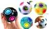Kids' Plastic Cube Twist Puzzle Rainbow Magic Education Toy Ball