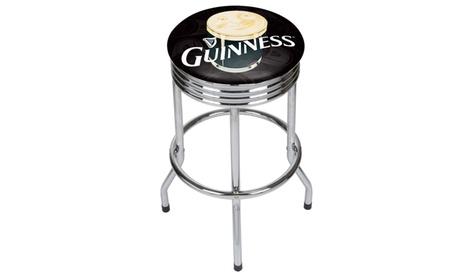 Guinness Chrome Ribbed Bar Stool - Smiling Pint 35d2ea44-d9c7-4faf-be10-f60fef827238