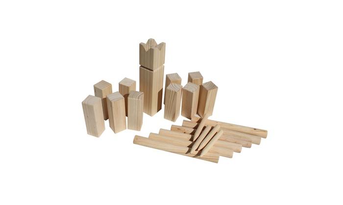 Wooden Kubb Game Viking Chess Groupon