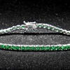 7.00 CTTW Emerald Round Cut Tennis Bracelet in 18k White Gold