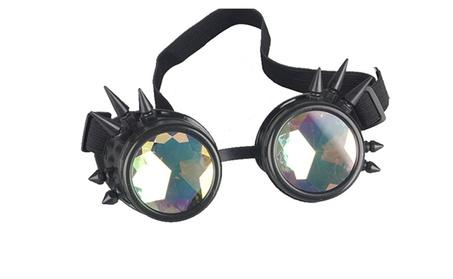 Rainbow Crystal Welding Goth Cosplay Lens Eyewear Sunglass cde255e3-963b-4bf7-9d53-36b4f42e0817