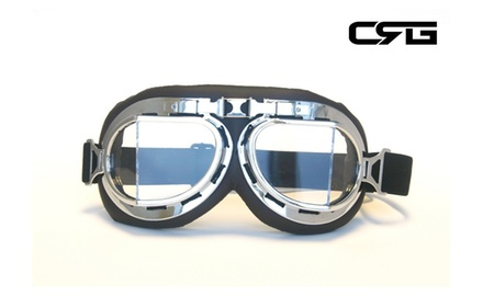CRG Vintage Bike Aviator Style Motorcycle Cruiser Scooter Goggles T08SCD
