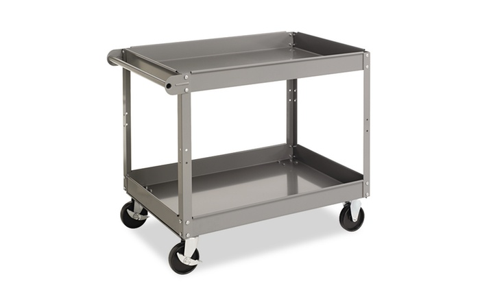 Tennsco Two Shelf Metal Cart, 24w X 36d X 32h, Gray