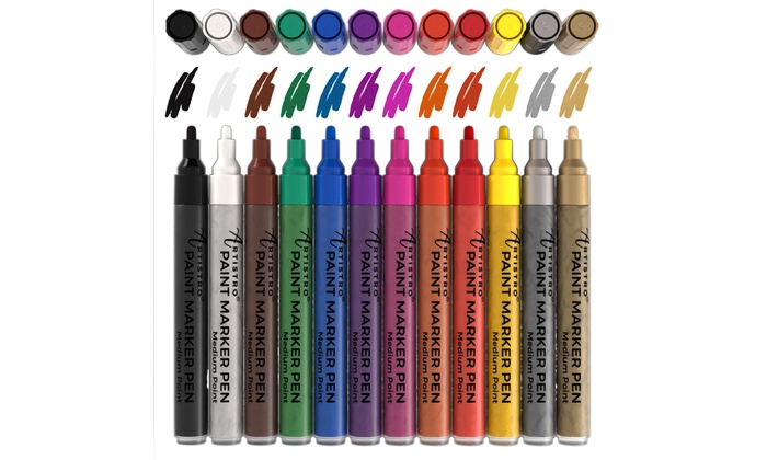 Artistro Paint Pens For Rock Painting And Canvas Acrylic Paint Markers