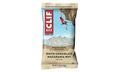 CLIF BAR - Energy Bar - White Chocolate Macadamia - 2.4 oz, 12 count