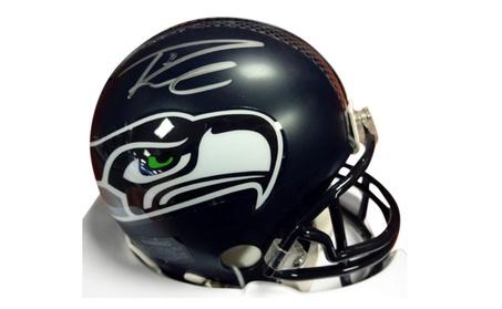 Autographed Russell Wilson Seattle Seahawks Mini Helmet b928fc04-20ef-445e-88a5-d3423dfb2c3a
