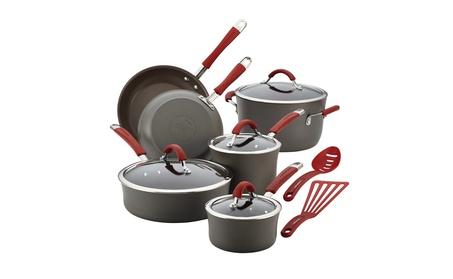 Rachael Ray 87630 Cucina Hard-Anodized Nonstick 12-Piece Cookware Set 1e280f1a-1407-4dd4-a937-84eb09c23ec0