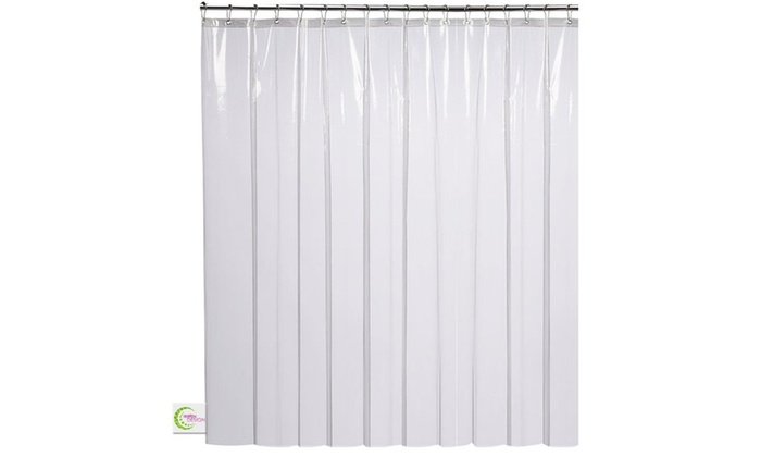 Mildew Resistant Clear Shower Curtain
