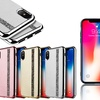 Diamond Strip on Leather Finishing Gel iPhone Case for iPhone Models