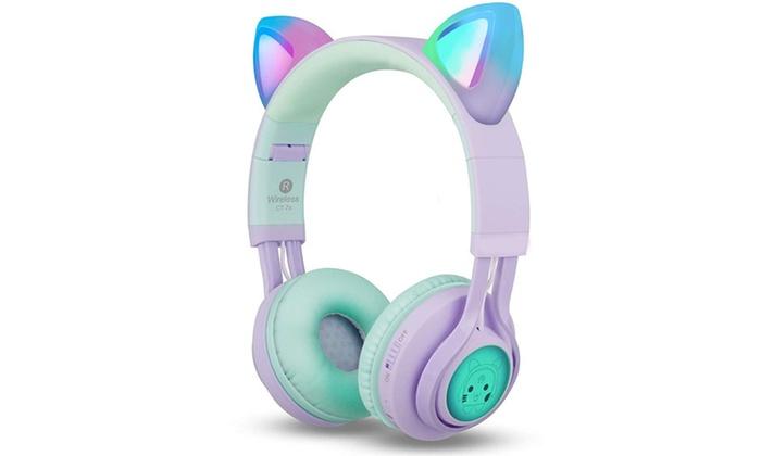 Ear Bluetooth Headphones Kids Wireless Headphones Over Ear With Microphone Groupon
