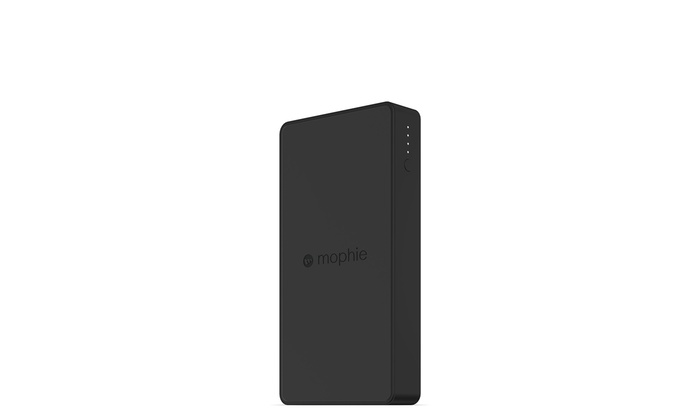 Black mophie powerstation Wireless External Battery Charger for Qi enabled Smartphones and mophie Cases with Charge Force