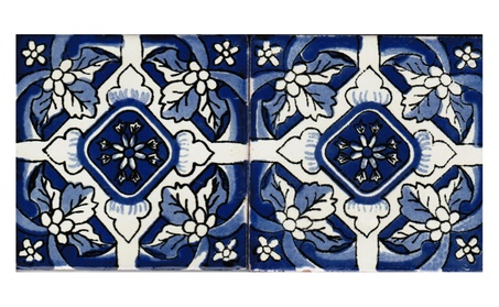 90- Pieces Box Set Hand Painted Clay Talavera Tile