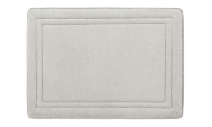 Microdry Sd Dry Memory Foam Bath Mat 21x34 In Chrome