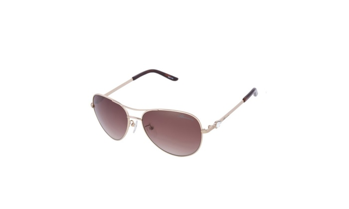 Blumarine SBM 041 349 Women Swarovski Rose Gold Aviators Made in Italy