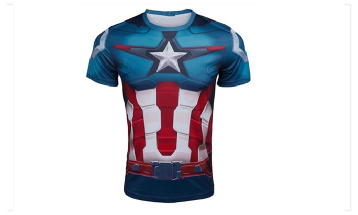 Captain America Short Sleeve Sport Shirt