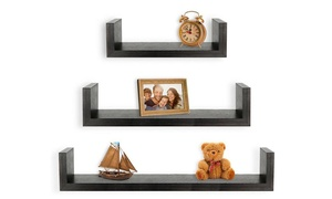 Greenco Floating U-Shaped Shelves (Set-of-3)