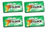 Gillette 7 O'Clock Permasharp Green Double Edge Blades, 10 ct.  (Pack of 4)