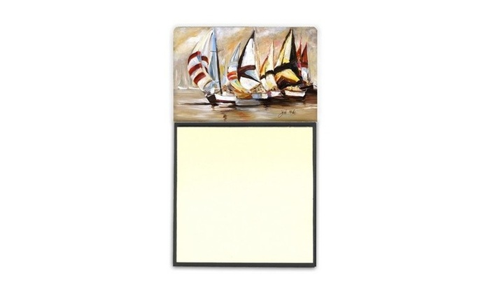 Carolines Treasures JMK1136SN Boat Binge Sailboats Sticky Note Holder
