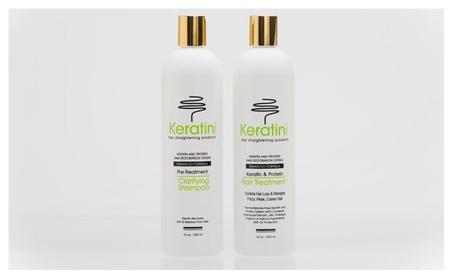 Keratin Hair-Straightening Formaldehyde-Free Treatment Duo 16oz /500ml 4871ca32-13f6-4fa0-8335-a95df6920af8