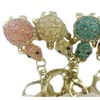 Jeweled Rhinestone Gold-Plated Key Ring, Keychain, Bag Charm - Turtle