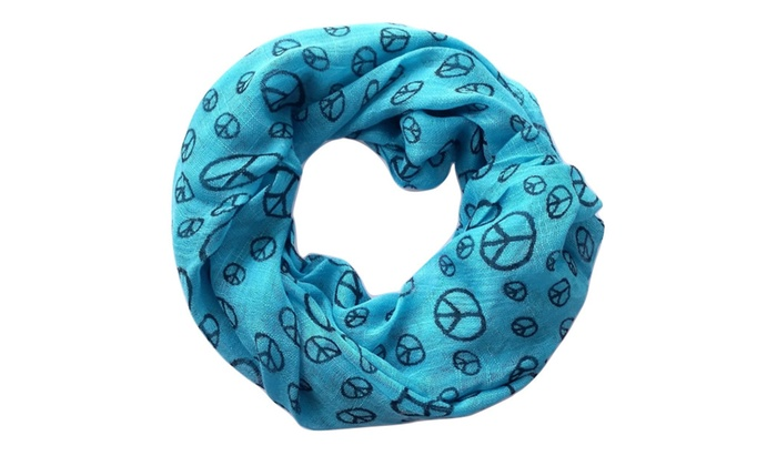 Peace Sign Scarves Boho Scarf for Women Light Weight High Quality USA
