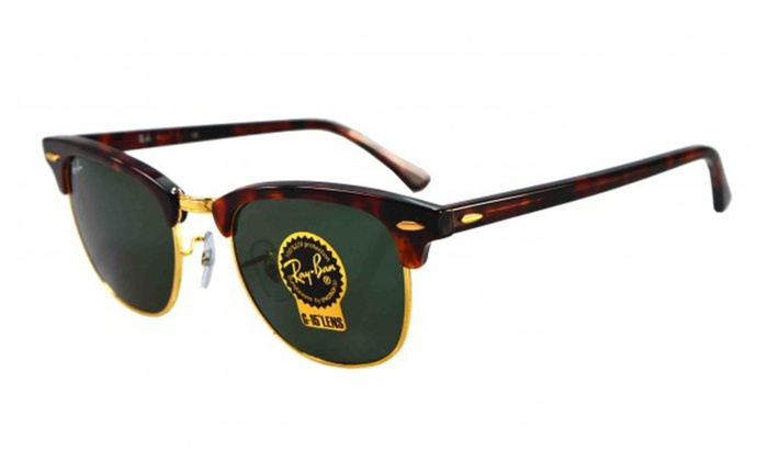 ray ban clubmaster classic tortoise  Ray Ban Clubmaster rb3016 W0366 49mm Tortoise / Green Classic G-15 ...