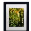 Philippe Sainte-Laudy 'Last Season Green' Matted Black Framed Art