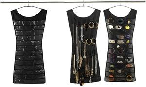 Multi-Pocket Dress Shape Hanging Jewelry And Trinket Organizer