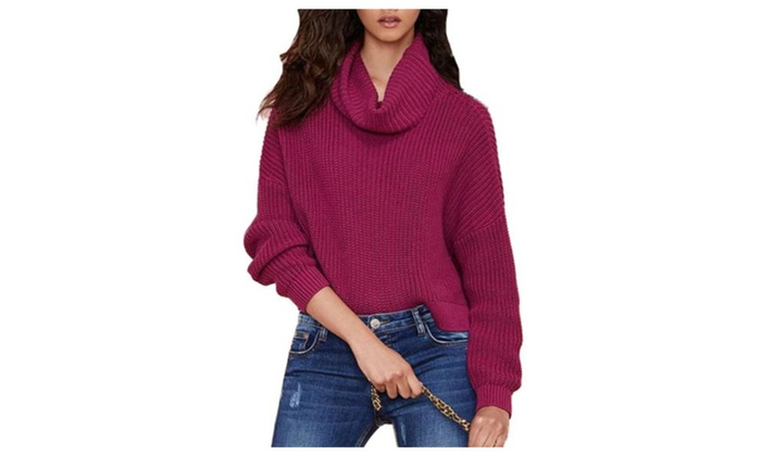 Women's Regular Fit Solid Casual Pullovers Sweater