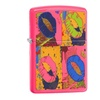 Zippo Neon Lips Pocket Lighter, Neon Pink 29086