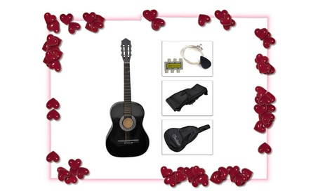 Acoustic Guitar+Guitar Case, Strap, Tuner, Pick Special For Valentine Day d1301e30-4c36-4a60-990b-5b78af9b0987