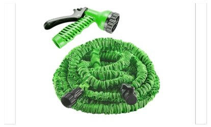 50/75/100Ft Expanding Flexible Garden Water Hose & Spray Nozzle Green