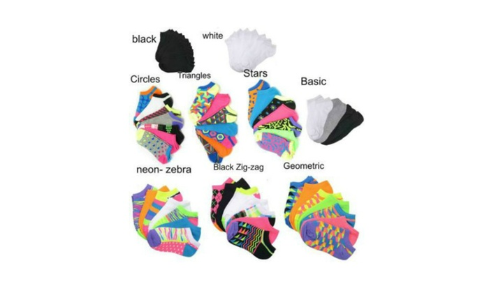 Everlast Women Colorful Low Cut No show Ankle Socks 7, 14 or 21 Packs