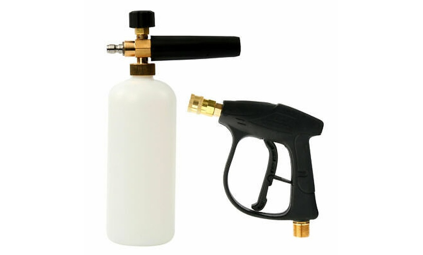 "1//4/"" Pressure Snow Foam Washer Jet Car Wash Lance Soap Spray Cannon With Gun New"
