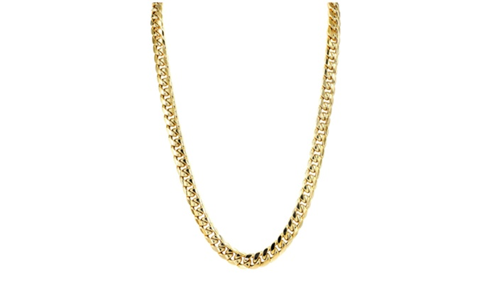 10k Gold Cuban Link Chain >> Up To 80 Off On 10k Gold Hollow Miami Cuban L Groupon Goods