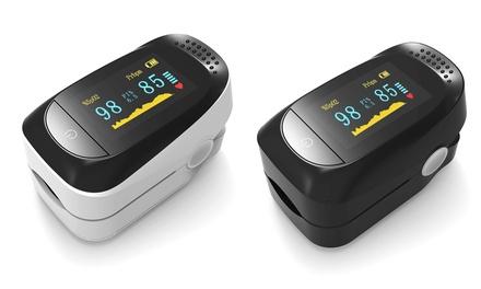 Finger Pulse Oximeter Blood Oxygen Saturation SpO2 Monitor (White, Black)