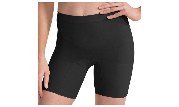 Spanx Power Shorts S 2744 Mid-Thigh Seamless All-Day Comfort Black
