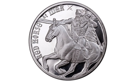 Four Horsemen of the Apocalypse - Red Horse of War 1 oz Silver Round