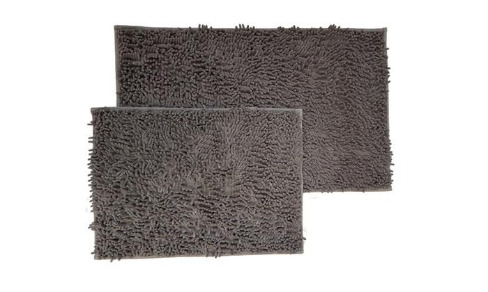 Non Slip Microfiber Shag Bathroom Rugs Bath Mats 17x24