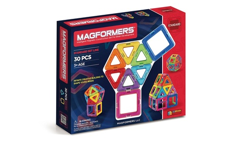 Magformers Standard 30-Pieces Magnetic Building Blocks Set Toys 528f8837-eab8-4210-a193-fbcf158bc249