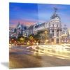 Madrid City Center Cityscape Photography Metal Wall Art 28x12