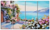 Sea and Flowers - Landscape Metal Wall Art