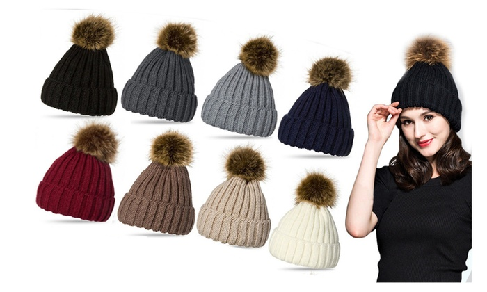 Up To 86% Off on Women Knit Hat Winter Beanie ...  c6dc4251b61