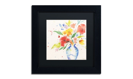 Sheila Golden 'Vibrant Bouquet' Matted Black Framed Art bd5c01bc-0fc7-4c65-854a-4b75db043b4c