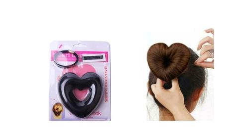 New Heart Shaped Hair Disk Hair Bun Accessories 4ff681c5-26d4-49d3-ad77-41e3b4dfaaa0
