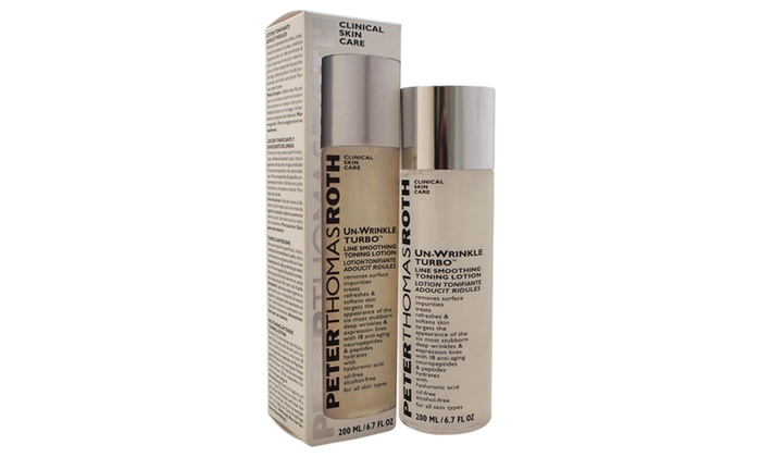 Peter Thomas Roth Un-Wrinkle Turbo Line Smoothing Toning Lotion, 6.7 Fluid Ounce Time Therapy Lotus TT141001 4 oz Face Wash for Dry & Sensitive Skin