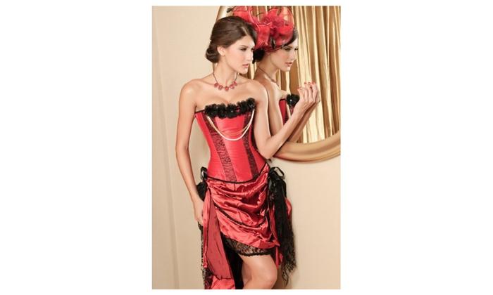 Women's Lingerie Pearl Seductress Burlesque Corset