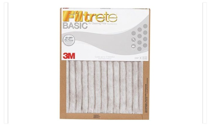 3M Filtrete Basic White Pleated Air Furnace Filter  (6 Pack)